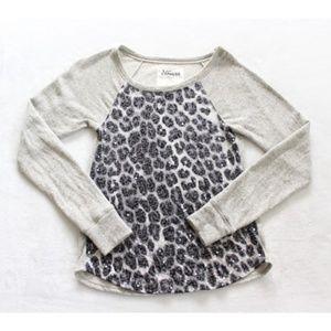 EXPRESS Gray Sweatshirt Animal Print Size Small